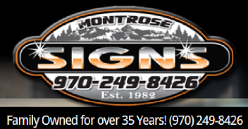 Montrose Signs Card Ad