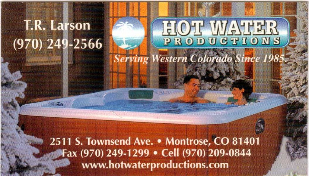 Hot water Productions Ad